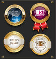 collection of elegant golden premium quality vector image vector image