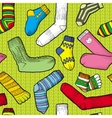 Colored socks vector image vector image