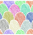 colorful doodle fingerprint drawing seamless vector image vector image