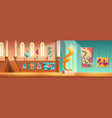 contemporary art exhibition cartoon concept vector image