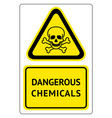 dangerous chemicals sign vector image