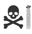 death icon with work bonus vector image vector image