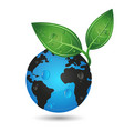earth green planet concept vector image vector image