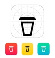 Empty plastic cup icon vector image