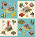 farm isometric concept vector image vector image
