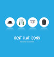 flat icon clothes set of stylish apparel panama vector image vector image
