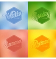 four seasons background typography set vector image