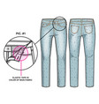 front and back sides pants vector image vector image