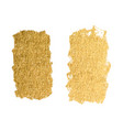 gold paint smear stroke stain set abstract vector image