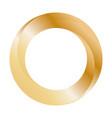 gold ring design orbit icon vector image vector image