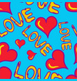 graffiti colored hearts seamless background of vector image