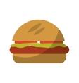hamburger fast food icon vector image vector image