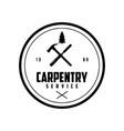 hammer silhouette carpentry service logo design ve vector image