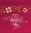 hand drawn calligraphy lettering happy valentine vector image vector image