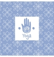 Hand Image Yoga Studio Design Card vector image vector image