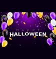happy halloween carnival background orange purple vector image vector image