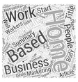 Home Based Business Opportunity Word Cloud Concept vector image vector image