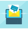 laptop with envelope message vector image vector image
