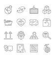logistics icons editable stroke vector image vector image