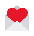 love envelopes with hearts vector image vector image