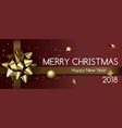 merry christmas and happy new year 2018 poster vector image