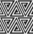 monochrome ancient triangle spiral seamless vector image