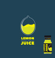 natural lemon juice logo and label vector image