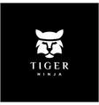 ninja tiger simple tiger face logo design with vector image
