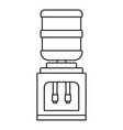 office water filter bottle icon outline style vector image vector image