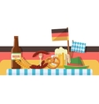 Oktoberfest celebration or banner vector image vector image