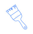 outline paintbrush drawing object graphic vector image