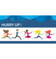 People Hurry Run vector image