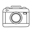 photographic camera icon black and white vector image vector image