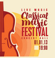 poster for festival classical music with saxophone vector image