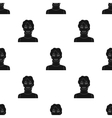 Readhead woman icon in black style isolated on vector image vector image