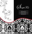 red elegant damask wedding invitation vector image vector image