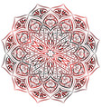 red mandala pattern on white background vector image vector image
