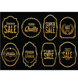 retro vintage golden tags collection vector image vector image