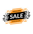 sale banner special offer mega sale design vector image vector image