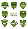 set green soccer logo football logotype vector image