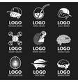 Set of brain sign set vector image vector image
