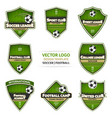 set of green soccer logo football logotype vector image vector image