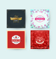 set of happy valentines day typography greeting vector image vector image