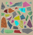 set pieces of torn paper with abstract vector image vector image
