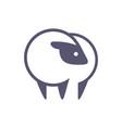sheep farm logo icon vector image