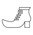 shoe boot of leprechaun outline vector image
