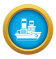 small ship icon blue isolated vector image vector image