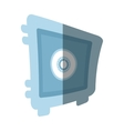 steel box save money bank security flat icon vector image