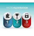 Steps icons desig vector image