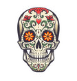 sugar skull decoration tattoo vector image vector image